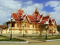 在Pha的寺庙Luang复合体,万象 库存照片