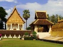 在Pha的寺庙Luang复合体,万象 免版税库存照片