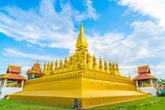 在Pha的美好的建筑学Luang,万象,老挝 库存图片