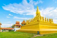 在Pha的美好的建筑学Luang,万象,老挝 免版税库存图片