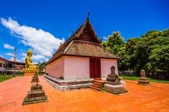 在Phichit泰国的Watnakhonchum 免版税库存照片