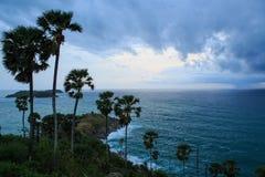 在Phromthep海角的日落 免版税图库摄影