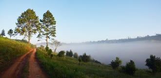 在Phu Hin荣Kha泰国的全景观点 免版税库存照片