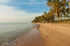 在Phu Quoc海岛上的沙子长滩 库存照片