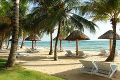 在Phu Quoc海滩的日落 免版税库存照片