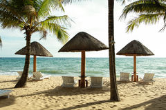 在Phu Quoc海滩的日落 库存照片