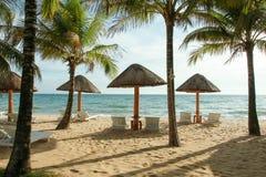 在Phu Quoc海滩的日落 库存图片