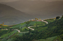 在Phu Thap Boek的山景 免版税库存图片