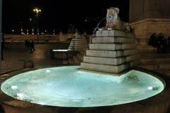 在Piazza del Popolo的喷泉在罗马 库存照片