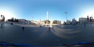 在Piazza del Popolo,罗马,意大利的阳光反射 库存图片