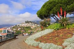 在Pico dos Barcelo的风景看法 库存图片