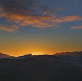 在Picos de Europa的日出 免版税库存图片