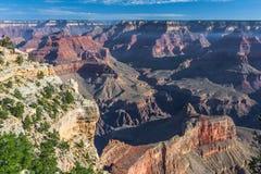 在Pima问题的日出的大峡谷,南外缘,亚利桑那,美国 免版税库存图片
