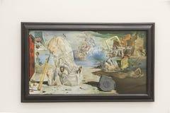 在Pinakothek der的萨尔瓦多・达利绘画摩登呢在慕尼黑 免版税库存图片