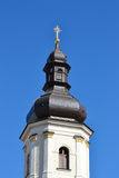 在Pinsk的一座老钟楼 免版税库存照片
