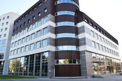 在Pinsk的现代大厦,比拉罗斯 库存图片