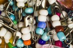 在pinstexture照片JPG的色的小珠 免版税库存照片