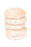 在pita上添面包 库存照片