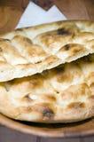 在pita土耳其上添面包 库存照片