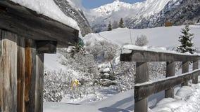在Pitztal的冬天 免版税库存图片