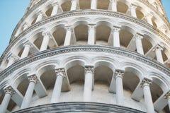 在piza意大利的著名塔 库存图片