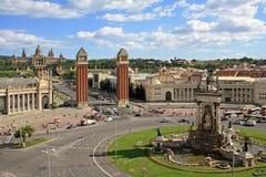 在Plaça d'Espanya的看法 库存照片