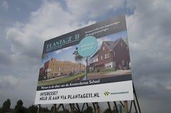 在Plantage 11的广告牌Diemen的荷兰 免版税图库摄影