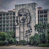 在Plaza de la Revolucion的切・格瓦拉图片 库存照片