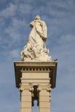 在Plaza del Triunfo,塞维利亚的Inmaculada雕象 库存照片