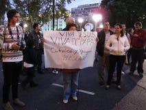 布宜诺斯艾利斯Celebrations教皇 免版税图库摄影