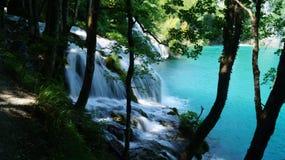 在Plitvice湖的瀑布 免版税库存照片
