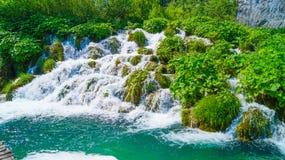 在Plitvice湖4的瀑布 免版税图库摄影