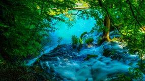 在Plitvice湖5的瀑布 免版税库存图片