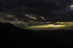 在Plomin的日落 图库摄影
