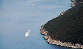 在Plomin附近的Istrian海岸 库存图片