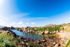 在Ploumanac'h的海滩 库存图片