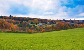 在Pocono山PA的美好的秋天。 免版税库存照片