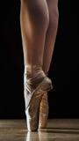 在pointe的芭蕾行程 免版税库存照片