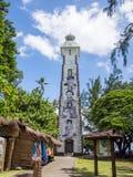 在Pointe金星的灯塔在帕皮提,法属玻里尼西亚 免版税库存图片