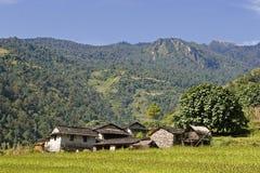 在pokhara村庄附近 图库摄影