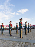 在Poklonnaya小山的Preobrazhensky军团 库存照片