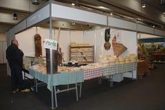 在Pollice Verde的乳酪摊位 免版税图库摄影