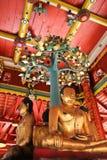 在Pong sanook寺庙的菩萨雕塑在Lumpang,泰国 库存图片