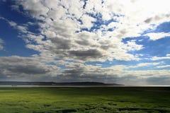 在pont天空的de法国normandie 免版税库存照片