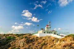 在Ponta da Piedade的灯塔 免版税图库摄影