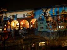 在Ponte Vecchio,佛罗伦萨的圣诞节庆祝 库存图片