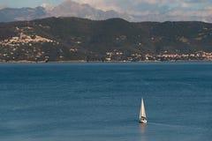 在Portovenere的风船 库存照片
