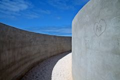 在portugals美好的沙漠自然的一个迷宫 图库摄影
