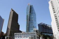 在postdamer platz的现代大厦 库存图片