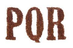 在pqr烟草上写字 库存照片